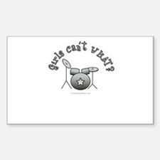 Silver Drum Set Decal