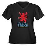 C&P Scots Women's Plus Size V-Neck Dark T-Shir