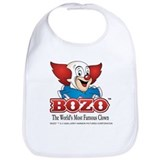 Bozo the clown Cotton Bibs
