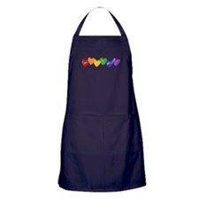 Vintage Gay Pride Hearts Apron (dark)