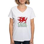 C&P Welsh Women's V-Neck T-Shirt