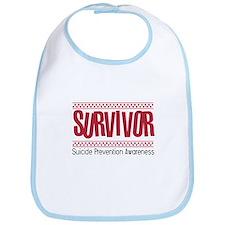 Red Survivor Bib