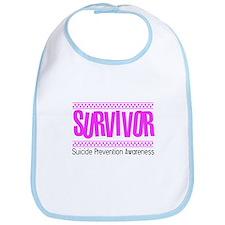 Pink Survivor Bib