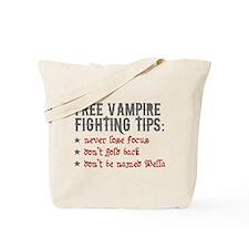 Vampire Fighting Tips Tote Bag