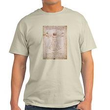 Vitruvian Man by Leonardo T-Shirt