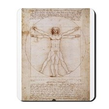 Vitruvian Man by Leonardo Mousepad