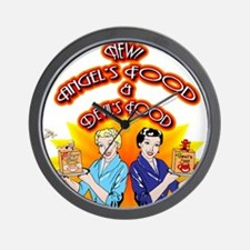 Angel and Devil's Food 1950's Style Wall Clock