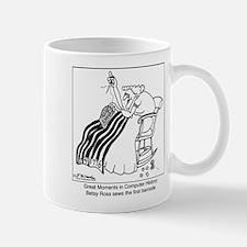 Betsy Ross sews a Barcode Mug