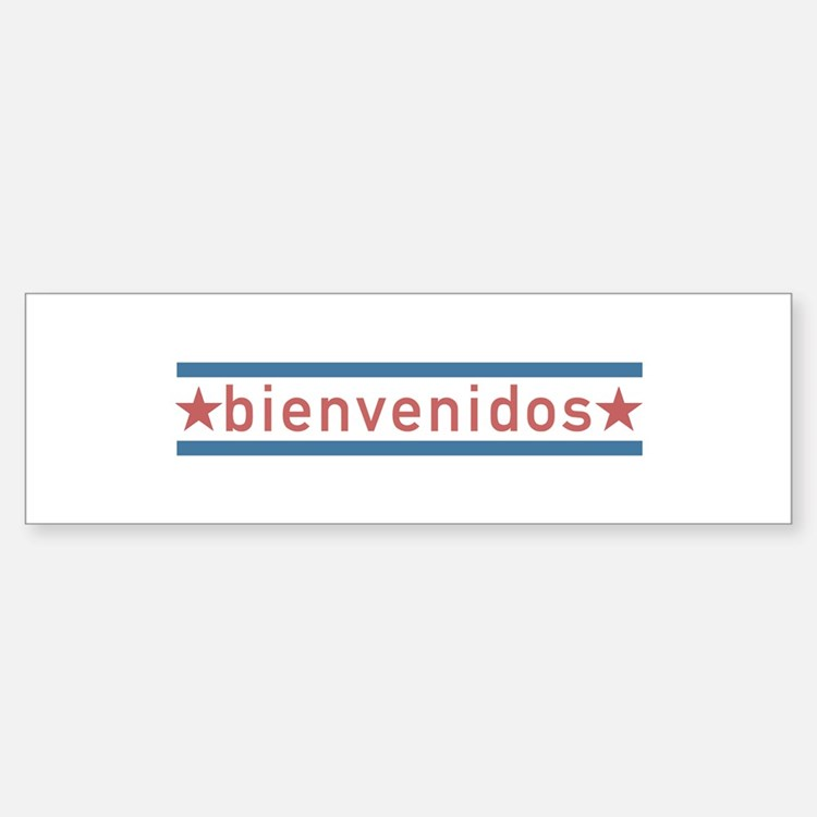 """Welcome USA"" Bumper Bumper Sticker"
