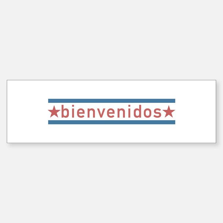 """Welcome USA"" Sticker (Bumper)"