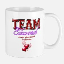 Team Edward except when Jacob is shirtless Mug