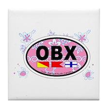 Outer Banks NC - Oval Design Tile Coaster