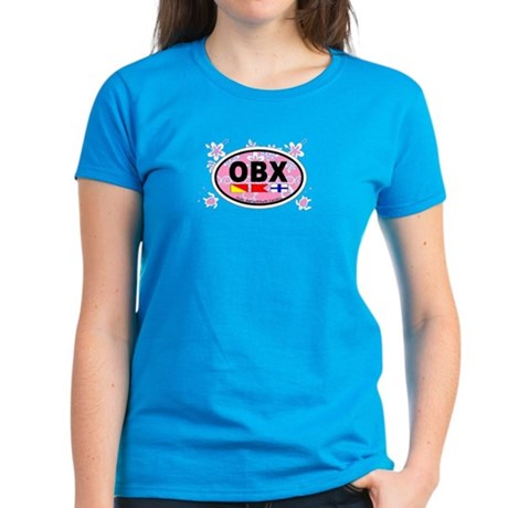 Outer Banks NC - Oval Design Women's Dark T-Shirt