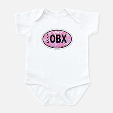 Outer Banks NC - Oval Design Infant Bodysuit
