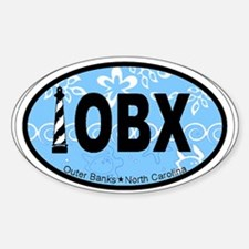 Outer Banks NC - Oval Design Decal