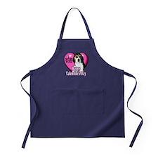 Beagle Valentines Apron (dark)