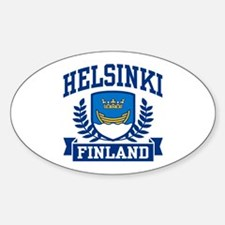 Helsinki Finland Sticker (Oval)
