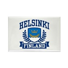 Helsinki Finland Rectangle Magnet