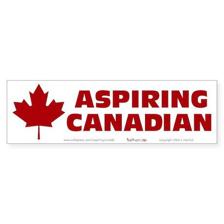 Aspiring Canadian Sticker (Bumper)