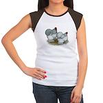 Cochins: Self Blue Women's Cap Sleeve T-Shirt