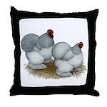 Cochins: Self Blue Throw Pillow