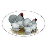 Cochins: Self Blue Sticker (Oval 50 pk)