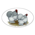 Cochins: Self Blue Sticker (Oval 10 pk)