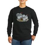 Cochins: Self Blue Long Sleeve Dark T-Shirt
