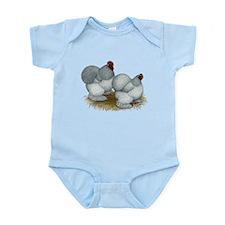 Cochins: Self Blue Infant Bodysuit