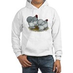 Cochins: Self Blue Hooded Sweatshirt