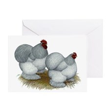 Cochins: Self Blue Greeting Card
