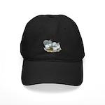 Cochins: Self Blue Black Cap