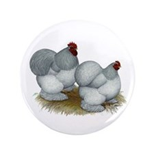 "Cochins: Self Blue 3.5"" Button (100 pack)"