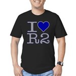 I Heart R2 Men's Fitted T-Shirt (dark)