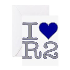 I Heart R2 Greeting Card
