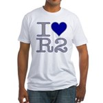 I Heart R2 Fitted T-Shirt