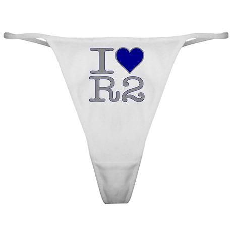 I Heart R2 Classic Thong