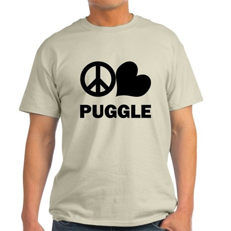 Peace Love Puggle Light T-Shirt