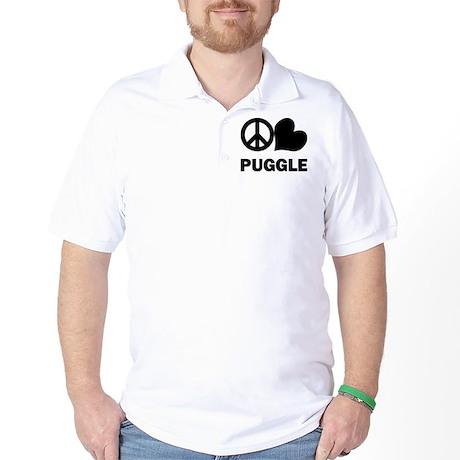 Peace Love Puggle Golf Shirt