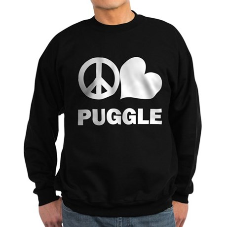 Peace Love Puggle Sweatshirt (dark)