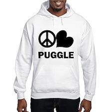 Peace Love Puggle Hoodie