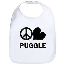 Peace Love Puggle Bib