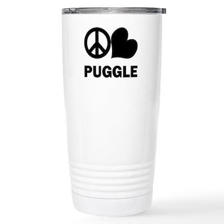 Peace Love Puggle Stainless Steel Travel Mug