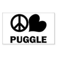 Peace Love Puggle Decal