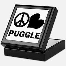 Peace Love Puggle Keepsake Box