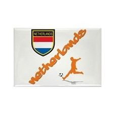 NETHERLANDS SOCCER Rectangle Magnet