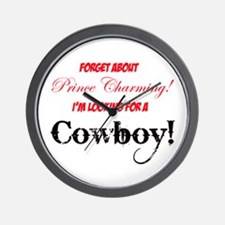 Looking for a cowboy! Wall Clock