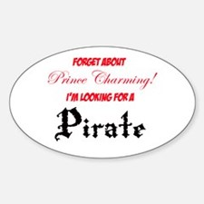 Looking for a pirate! Sticker (Oval)