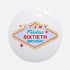 Las Vegas Birthday 60 Ornament (Round)