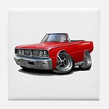 1966 Coronet Red Convertible Tile Coaster